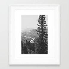 River through the Mountains Framed Art Print