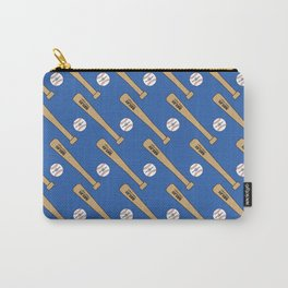 Baseball Bat and Ball Pattern (Blue) Carry-All Pouch