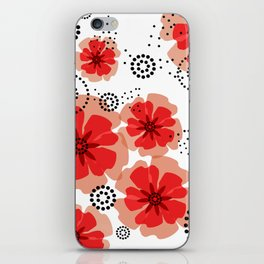 PEPPER POPPIES | red iPhone Skin