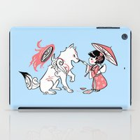 okami iPad Cases featuring Painting with Okami by Miski