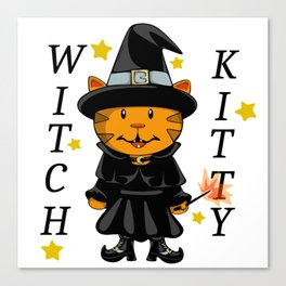 Witch Kitty Canvas Print