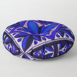 talavera mexican tile in blu Floor Pillow