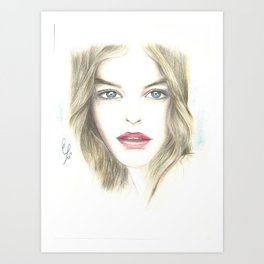 a beautiful woman Art Print