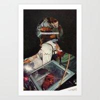 allyson johnson Art Prints featuring Johnson by Briana Finegan