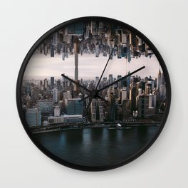 New York City Upside Down Wall Clock