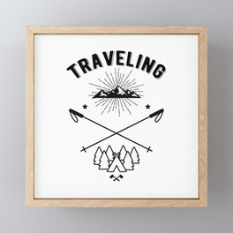 Traveling Vacation Holiday Adventure Framed Mini Art Print