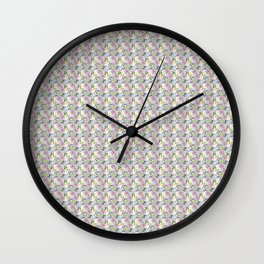 Roses & Forget Me Nots Yellow Wall Clock