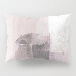 Blush Pink Minimalist Abstract Painting Pillow Sham