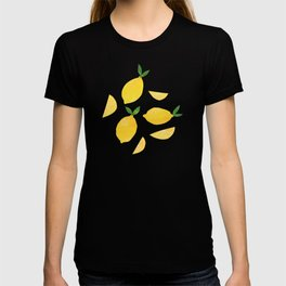 Lemon Cut Out Pattern T-shirt