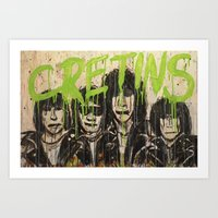 ramones Art Prints featuring Cretin Hop by mayhemmcelroy