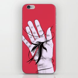 Disturbing Itch - Hand Biting Flower Monster iPhone Skin