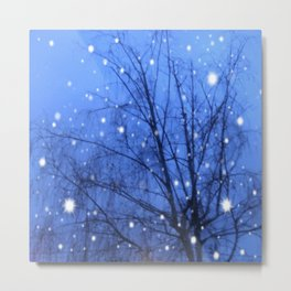 Starlit Tree Metal Print