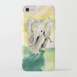 Colorful Baby Elephant iPhone Case