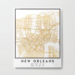 NEW ORLEANS LOUISIANA CITY STREET MAP ART Metal Print