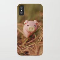 pig iPhone & iPod Cases featuring Pig by Natália Viana ♥