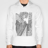 zentangle Hoodies featuring Zentangle Illustration - Road Trip by Vermont Greetings