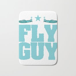 """Fly guy""  tee design perfect for aircraft lovers like you! Makes a nice gift too!  Bath Mat"