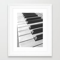 black keys Framed Art Prints featuring Black Keys by meganxxsweeney