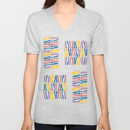 Abstract colourful waves Unisex V-Neck