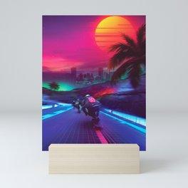 Synthwave Midnight Outrun Mini Art Print