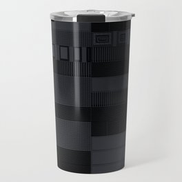 Futuristic industrial grates and technological elements Travel Mug