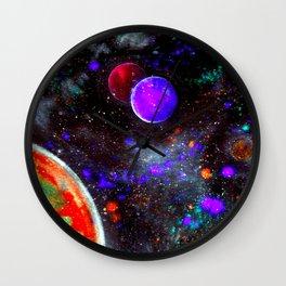 Intense Galaxy Wall Clock