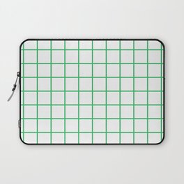 Grid Pattern Green Laptop Sleeve