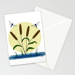 Cattails and Dragonflies Stationery Cards