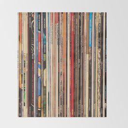 Alt Country Rock Records Throw Blanket