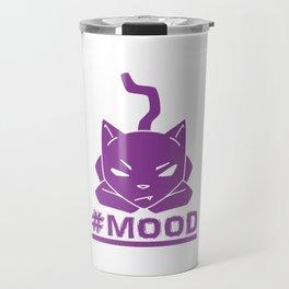 #MOOD Cat Purple Travel Mug