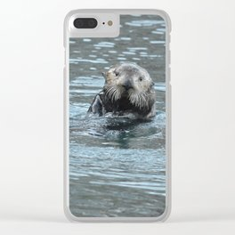 Sea Otter Fellow Clear iPhone Case