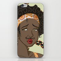 mustache iPhone & iPod Skins featuring Mustache by Chouly-Shop