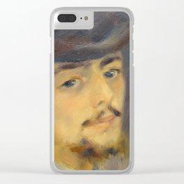 Self-Portrait Clear iPhone Case