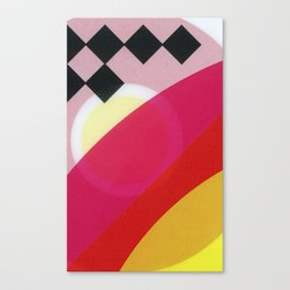 Pink and Black Canvas Print