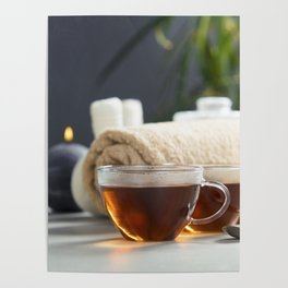 tea and spa composition Poster