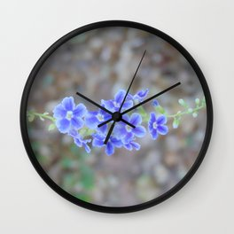 delicate purple Wall Clock
