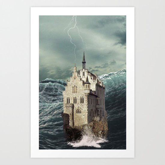 Castle in the sea 2 Art Print