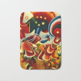 Oaxaca Mexico Vintage Travel Bath Mat