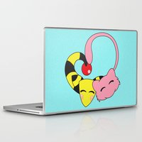 mew Laptop & iPad Skins featuring Mew and Ampharos: Heart Pt. 3 by Constanzze