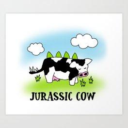 Jurassic Cow - Evolution of Milk Art Print