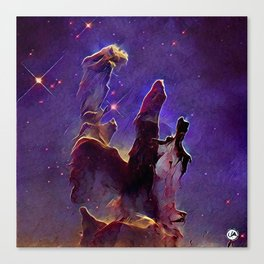 ALTERED Pillars of Creation Canvas Print