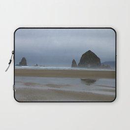 Misty Morning at Cannon Beach Laptop Sleeve