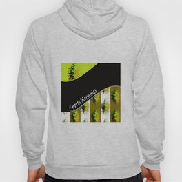 Bright colorful abstract pattern in green and black colors . Patchwork . Hoody