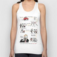 shaun of the dead Tank Tops featuring Shaun of the Dead by Rob O'Connor
