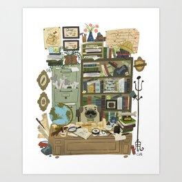 Professor Pug Art Print