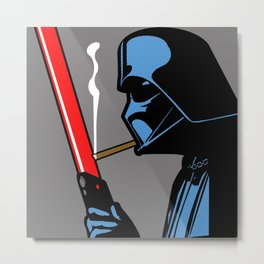 Vader Chillin (Grey) Metal Print