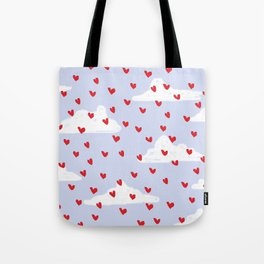 Hearts // Clouds Tote Bag