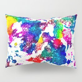 queer radiation — abstract art » modern print » trippy experimental Pillow Sham