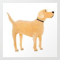 labrador Art Prints featuring Labrador by Cathy Brear