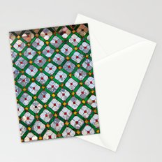 Geometric abstract tiles Stationery Cards
